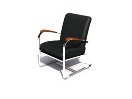 Visitor office chair 3d model preview