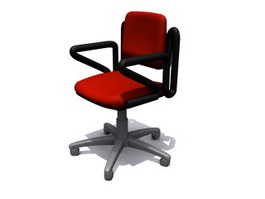 Swivel Computer Chair 3d model preview