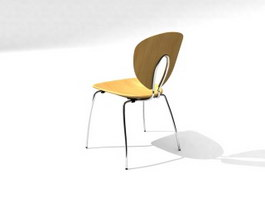Wooden Conference Chair 3d model preview