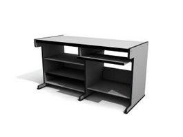 Workstation Computer Desk 3d model preview