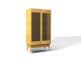 Filing storage cabinet 3d model preview