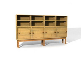 Office shelf storage cabinet 3d preview