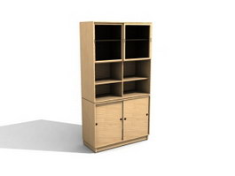 Filing cabinet and closet 3d model preview