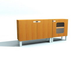 Combination Filing Cabinet 3d model preview