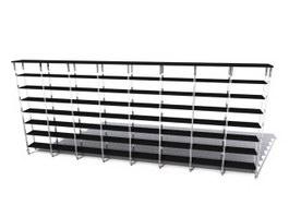 Metal shelves 3d preview