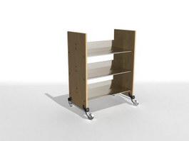 Office brochure shelf 3d model preview