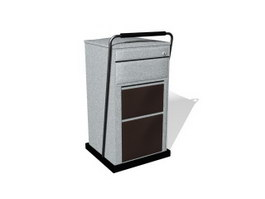 Portable filing cabinet 3d model preview