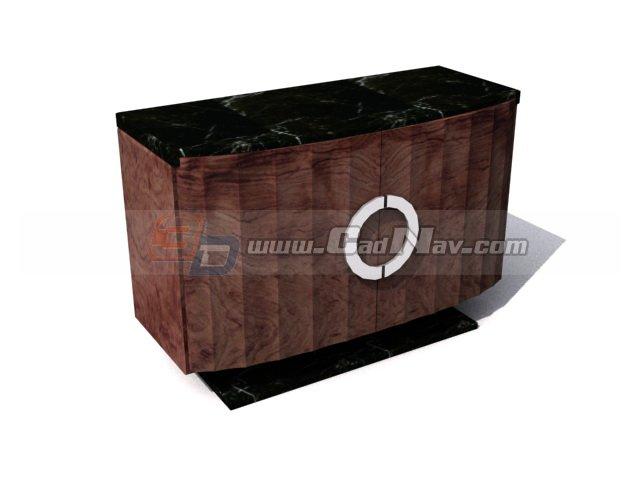 Marble top TV cabinet 3d rendering
