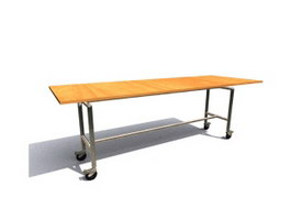 School dining room table 3d preview