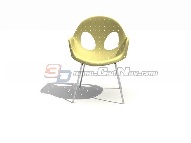 Outdoor Garden Plastic Chair 3d rendering