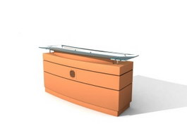 Office Reception Table 3d model preview