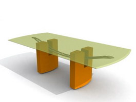 Glass Top Sofa Coffee table 3d preview