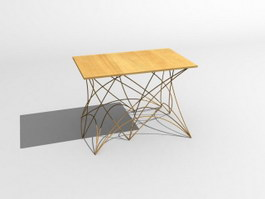 Coffe table wooden 3d preview