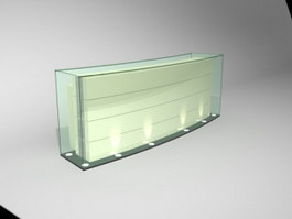 Counter reception table 3d preview