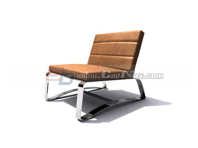 Office Barcelona chair 3d rendering