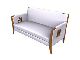 Office Public Waiting sofa 3d model preview