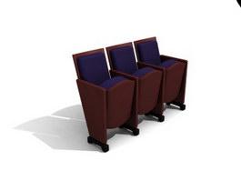 Cinema auditorium chair 3d preview