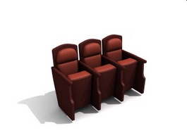 Fixed auditorium seating 3d preview