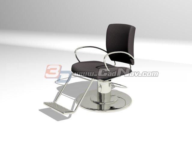 Salon Barber Chair 3d rendering