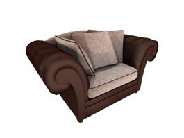 Home cushion couch 3d model preview
