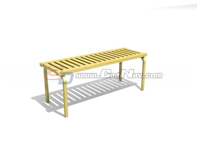 Park bench chair 3d rendering