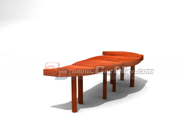 Supermarket patio waiting chair 3d rendering