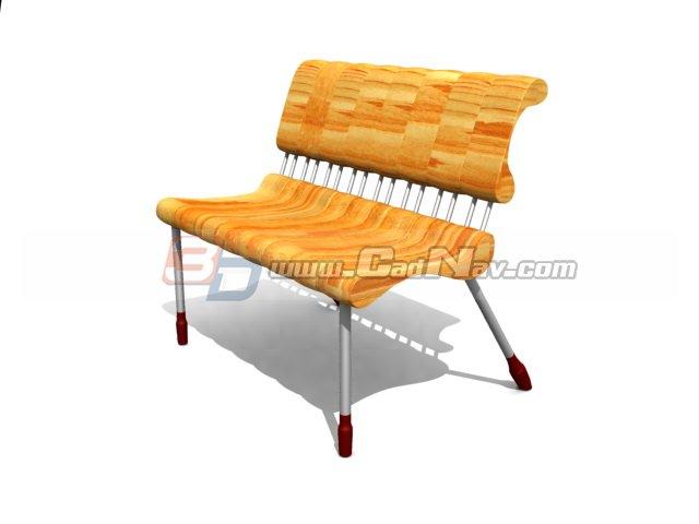 Park bench seat 3d rendering