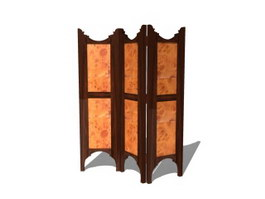 Antique wooden screen 3d preview