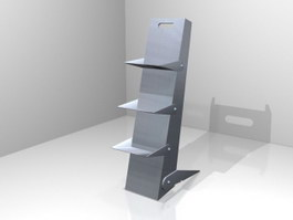 Steel Magazine Rack 3d preview