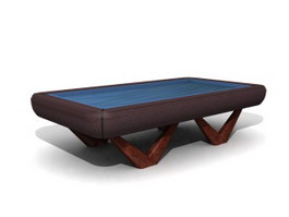Pool and Billiard table 3d model preview