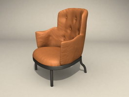 Single-seat sofa 3d preview