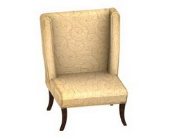 Soft cushion dining chair 3d model preview