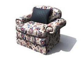 Children Fabric Sofa 3d model preview