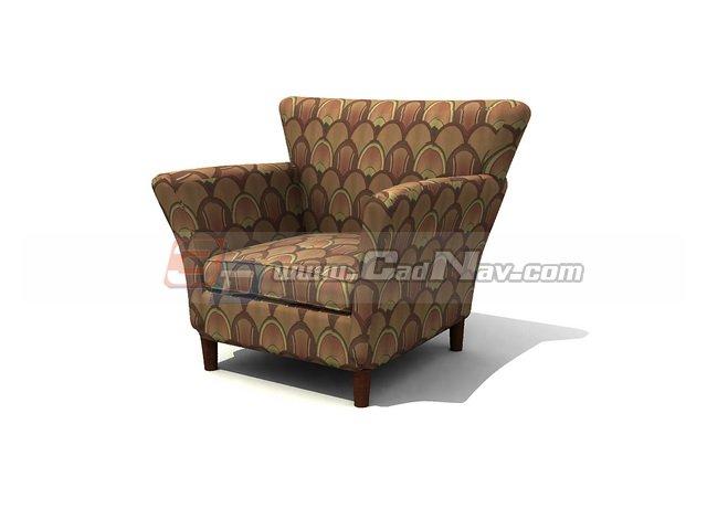 Single seat sofa 3d rendering