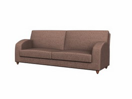European convertible sofa 3d model preview