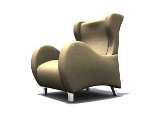 Classic sofa chair 3d model preview