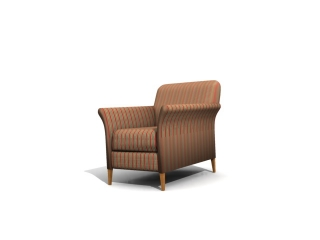 Hotel furniture sofa chair 3d model preview