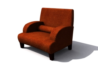 Sitting room sofa chair 3d preview