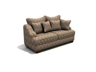 Settee sofa furniture 3d model preview