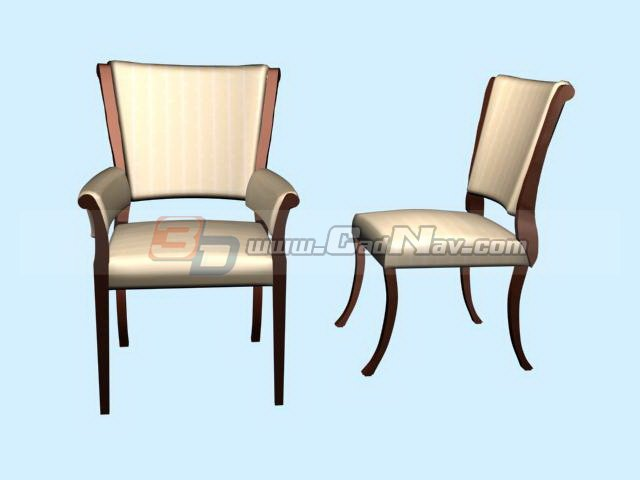 Home Leisure Chair Dining Chairs 3d rendering