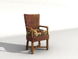 Leisure rattan chair 3d preview