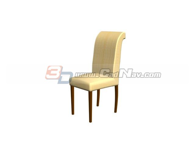 Banquet chair dining chair 3d rendering