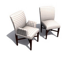 Restaurant dining chairs 3d preview