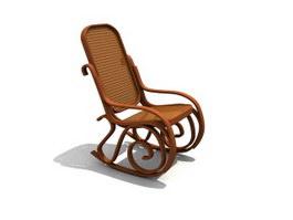 Antique rocking chair 3d preview