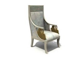 Antique Throne Chair 3d preview