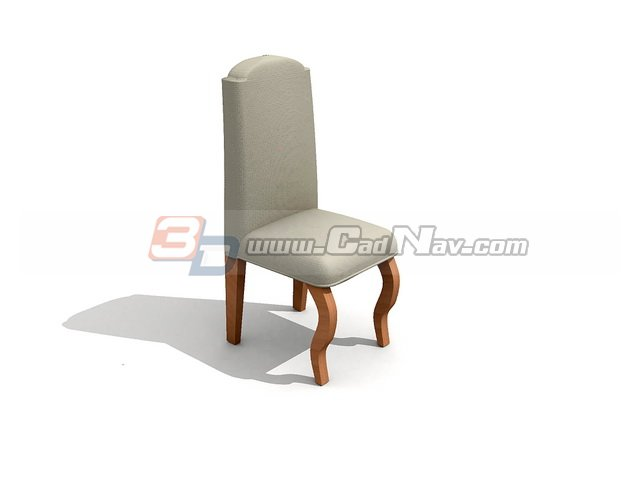 White wedding chair 3d rendering