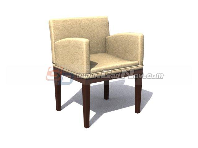 Hotel Leisure Chair 3d rendering