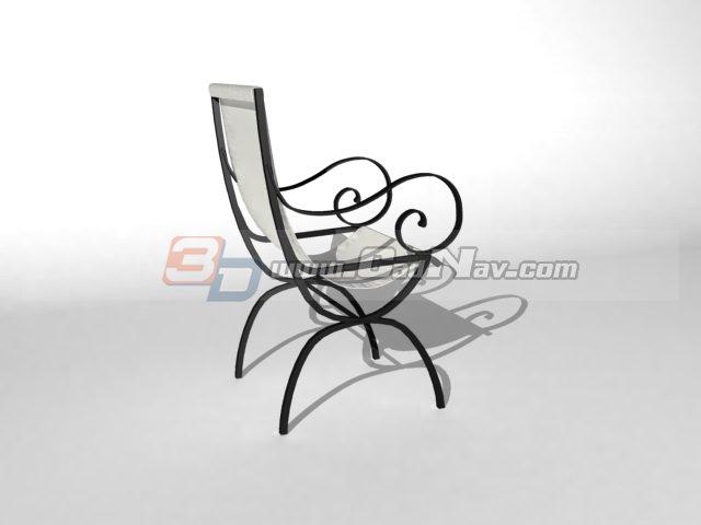 Outdoor garden lounging chair 3d rendering