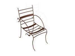 Outdoor Leisure metal chair 3d model preview