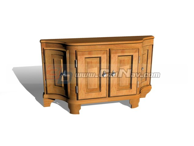 Antique Furniture Living Room Console Table 3d rendering